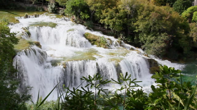 WS View of Water fall at Krka National Park / Knin, Sibenik-Knin County, Croatia