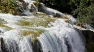 MS PAN View of Waterfall at Krka National Park / Knin, Sibenik-Knin County, Croatia