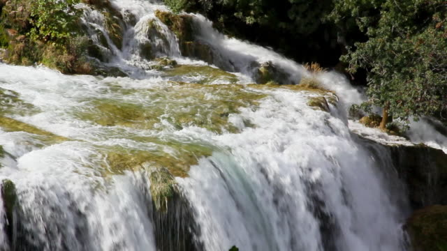 MS PAN View of Waterfall at Krka National Park / Knin, Sibenik-Knin County, Croatia