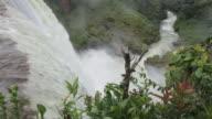 MS PAN View of waterfall at Mato Grossso, UTIARITI / Campo Novo do Parecis, Mato Grossso, Brazil
