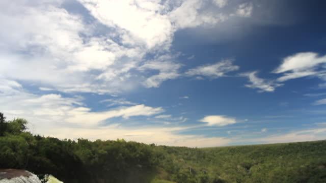 WS TD View of waterfall at UTIARITI / Campo Novo do Parecis, Mato Grossso, Brazil