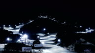 View of Wellihillipark Snow Park (Famous resort for skiing) at night