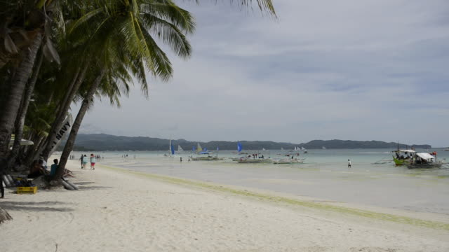 WS View of White Beach, / Boracay, Philippines