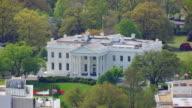 WS AERIAL POV View of White House / Washington DC, United States