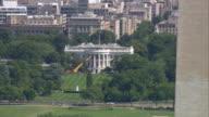 WS AERIAL View of White house / Washington, Dist. of Columbia, United States