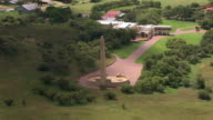CU AERIAL ZO View of Women's Memorial at Anglo Boer war museum / Bloemfontein, Free State, South Africa