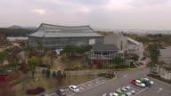 WS DS AERIAL View of wooriggot botanical garden in hwaseong / hwaseong, gyeonggi-do, South Korea