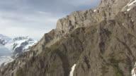 WS AERIAL ZI View of Wrangell Mountains to Erie Mine / Alaska, United States