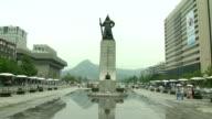 View of Yi Sunsin Admiral statue at Gwanghwamun Square