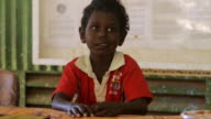 MS View of Young tiwi child / Northern Territory, Australia