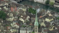 AERIAL ZO View of Zurich, Switzerland
