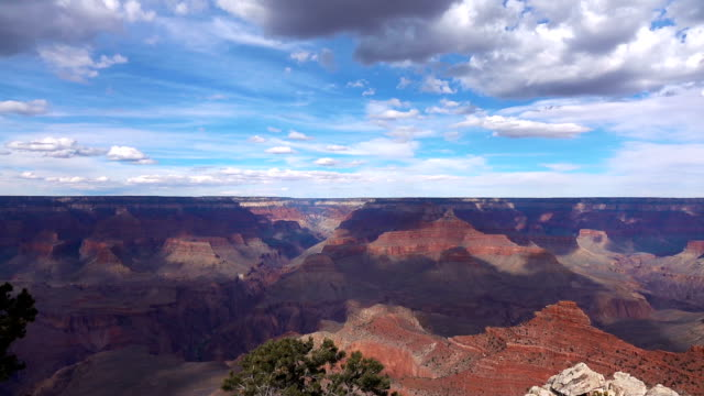 View on Grand Canyon in motion in slow motion