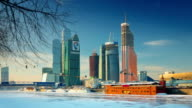 TL View on the 'Moscow-City'. Winter. Sunny day / Russia, Moscow