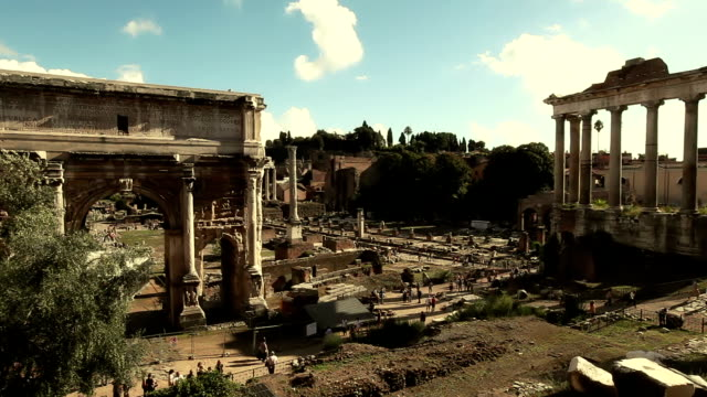 View on the Ruins of Roman Forum