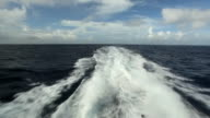 View on the sea from a  boat
