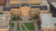 MS ZO AERIAL View over Baldwin Hall and University of Cincinnati campus / Cincinnati, Ohio, United States