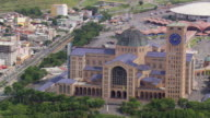 WS AERIAL View over Basilica of National Shrine of Our Lady of Aparecida / Sao Paulo, Brazil
