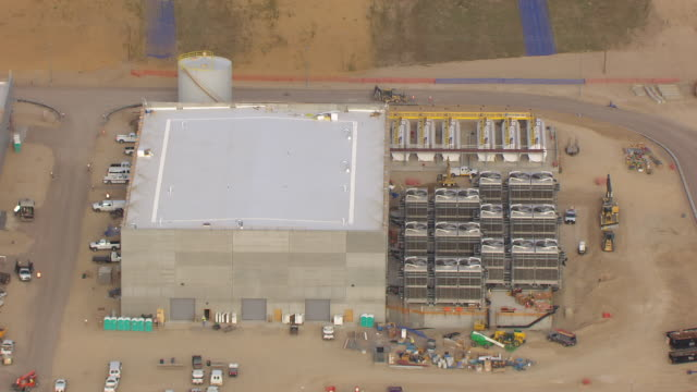 CU AERIAL View over building at NSA Utah data center / Utah, United States