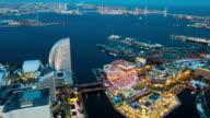 WS T/L HA View over city at night / Yokohama, Kanagawa, Japan