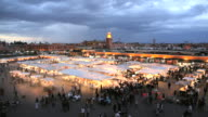 WS View over Djemaa el-Fna / MARRAKESH, Morocco