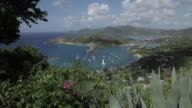 View over English Harbour, Shirley Heights, St Paul, Antigua and Barbuda, Caribbean