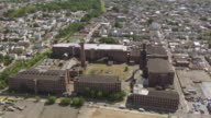 WS AERIAL View over former Clark thread company / Newark, New Jersey, United States