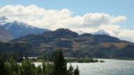 View over mountain lakes