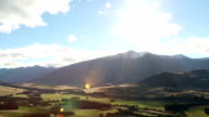 View over mountain valley