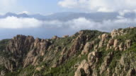 WS View over mountains of Calanche of Piana to sea, UNESCO World Heritage Site / Porto, Corsica, France