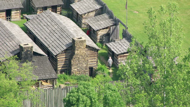 MS ZO AERIAL View over Pricketts Fort in Marion County / West Virginia, United States