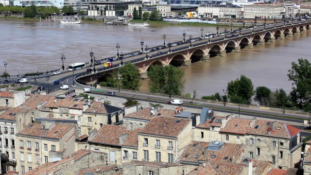 View over the rooftops of Bordeaux, France.