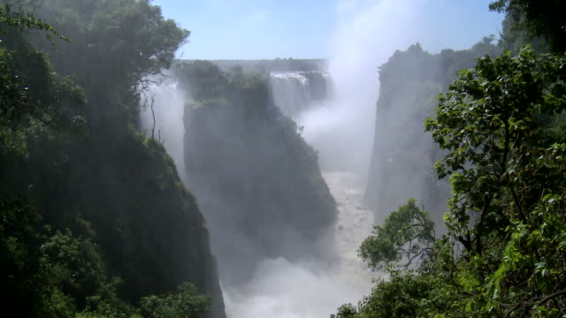 view over victoria falls, zimbabwe