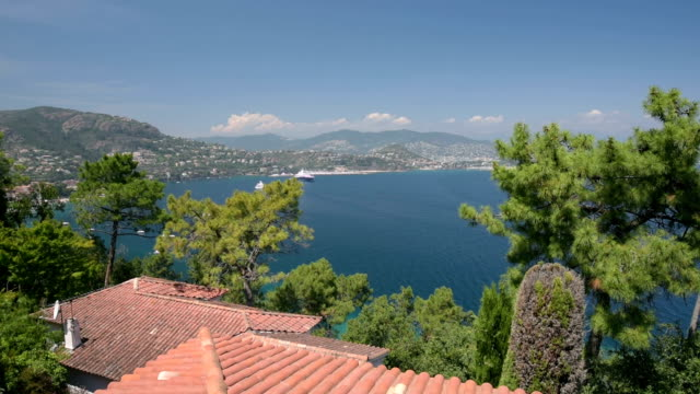 View to coast of Cote d`Azur
