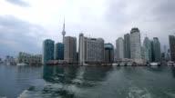 HD VDO : View Toronto Skyline from Boat, Canada