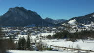 View towards the Town of Pfronten in the Allgaeu, Swabia, Bavaria, Germany