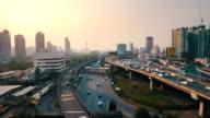 Luftaufnahme der Verkehr Autobahn von Bangkok