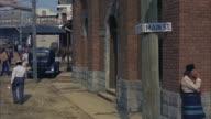 WS PAN View wagons passing through  Street