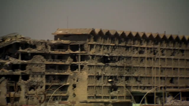 Views of a bombed out hospital in Mosul being used by Islamic State militants