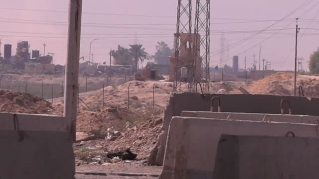 Views of a checkpoint on the outskirts of Kirkuk Iraq
