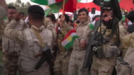 Views of a political rally in favour of a new Kurdish independent state ahead of the upcoming referendum northern Iraq September 2017 NNBZ123B...