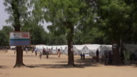 Views of a refugee camp in Borno State Nigeria for people displaced by the Boko Haram conflict