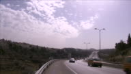 Views of a road alongside the Israeli settlement of Ma'ale Adumim on the West Bank