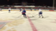 Views of an ice hockey match in Moscow