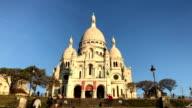 Views of Basilica of Sacre Coeur in Paris France