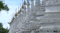 Views of Buddhist temples in Mandalay Burma