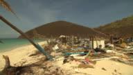 Views of damage caused by Hurricane Irma on Jost Van Dyke British Virgin Islands
