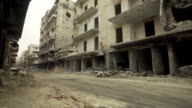 Views of destroyed buildings in Aleppo