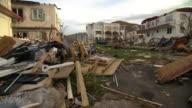 Views of destruction caused by Hurricane Irma in Tortola British Virgin Islands
