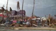 Views of destruction caused by Hurricane Irma on Tortola British Virgin Islands