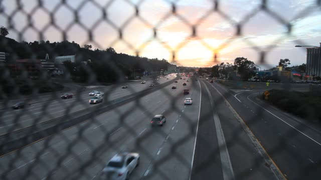 Views of Interstate 805 N near University Avenue in the North Park neighborhood of San Diego California US on Tuesday Feb 4 Wide shot of the highway...